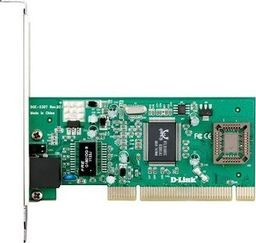 Karta sieciowa D-Link D-LINK DGE-530T, Managed Gigabit Ethernet NIC, 101000Mbps Managed Gigabit Ethernet UTP 32-bit PCI 2.2 (Bus Master) NIC, PnP, VLAN, 802.1p, Flow control, Jumbo Frame 7k, Windows XP -DGE-530T/D2B