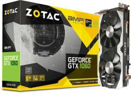 Karta graficzna Zotac GeForce GTX 1060 AMP! 6GB GDDR5 (192 Bit) 3xDP, HDMI, DVI. BOX (ZT-P10600B-10M)