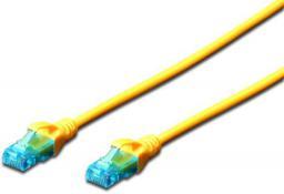 Digitus Kabel patch cord UTP, CAT.5E, żółty, 0.25m, 15 LGW (DK-1512-0025/Y)