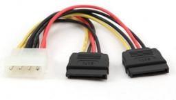 Gembird 4pin Molex/2x SATA, 0.3m (CC-SATA-PSY-0.3M)