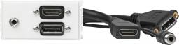 VivoLink Panel montażowy HDMI + DisplayPort + 3.5mm Jack (WI221280)