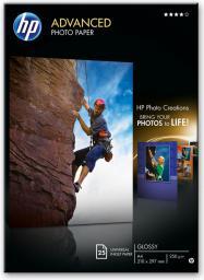 HP papier Advanced Glossy Photo B6 (Q8696A) 25 ark