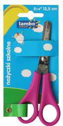 Lambo School Nożyczki dla dzieci z linijką, 13.5cm
