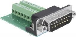 Delock terminal block adapter, 15 pin D-Sub plug / 16 pin terminal block (65275)