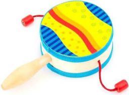 Goki Kolorowy bębenek z rączką, zabawka muzyczna (GOKI-61916)