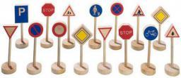 Goki Drewniane znaki drogowe, zestaw do zabawy (GOKI-WM 397)