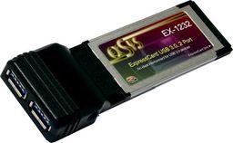 Kontroler Exsys Interface Card, 2 Port USB 3.0, Express Card - EX-1232