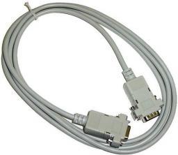 Logo kabel do transmisji danych szeregowy RS-232, 9pin-9pin, M/F, 2m (17072)