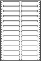 Logo Etykiety tabelaryczne A4, dwurzędowe, białe, 24 etykiety, 25 szt. (32108)