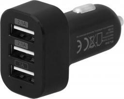 Ładowarka Blow 3x USB 5.2A Czarna (75-739#)