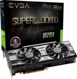 Karta graficzna EVGA GeForce GTX 1070 SC Gaming ACX 3.0 Black Edition 8GB GDDR5 (256 Bit) HDMI, DVI, 3xDP, BOX (08G-P4-5173-KR)