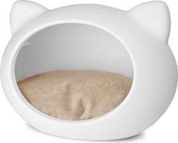 Guisapet Guisa dla kota S biała z beżową poduszką
