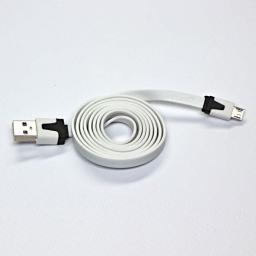Kabel USB USB A -> Micro USB (M/M) Biały 1m