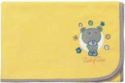 Babyono Kocyk polarowy żółty - Miś