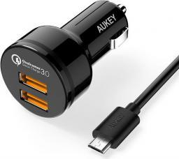 Ładowarka Aukey 2x USB 6A Czarna (CC-T8)