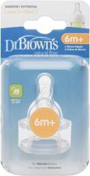 1 Dr. Browns Smoczek z sylikonową szyjką 2 szt (QU0050)