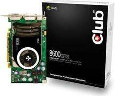 Karta graficzna Club 3D GeForce 8600 GTS 256MB 8600GTS PCIE 256M 2X DVI HDCP