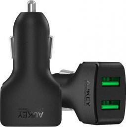 Ładowarka Aukey 2xUSB AiPower, 4.8A, 24W (CC-S3)