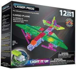 Laser Pegs 12 in 1 Cargo Plane (G1670B)