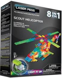 Laser Pegs 8 in 1 Scout Helicopter (PB2150B)