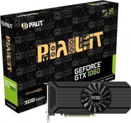 Karta graficzna Palit GeForce GTX1060 StormX 3GB GDDR5 (192 Bit) DVI, HDMI, 3xDP, BOX (NE51060015F9F)