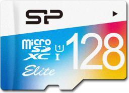 Karta Silicon Power Colorful Elite MicroSDXC 128 GB Class 10 UHS-I/U1  (SP128GBSTXBU1V20SP)