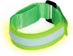 ART Opaska sportowa podświetlana zielona (AOP01G)