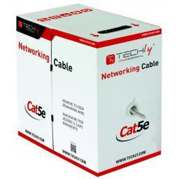 Techly Kabel instalacyjny  Cat5e,  UTP 4x2,  drut,  CCA,  305m,  szary (303591)