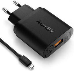 Ładowarka Aukey 1xUSB 3.0, 3A, 19.5W, kabel micro USB 1m (PA-T9)