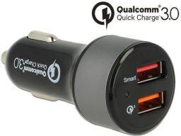 Ładowarka Navilock quick chaarge 3.0 + 1 X USB 2.4 A (62739)