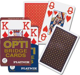 Piatnik Karty brydż - 4 Index OPTI Bridge Cards - (77139)