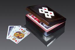 Piatnik Karty lux w pudełku drewnianym z asami 1 PIATNIK - 77769