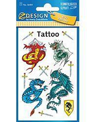 Avery Zweckform Tatuaże - smoki (106879)