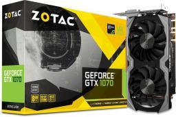 Karta graficzna Zotac GeForce GTX 1070 Mini 8GB GDDR5 (256 Bit) HDMI, DVI, 3xDP, BOX (ZT-P10700G-10M)