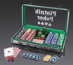 Piatnik Poker Alu-Case - 300 żetonów 14g (77968)