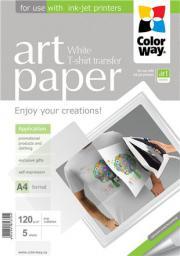 ColorWay Papier do prasowania nadruków na ubraniach T-Shirt A4 120g/m 5 arkuszy (PTW120005A4)