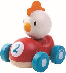 Plan Toys Drewniana wyścigówka kurczak - 212215
