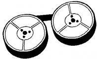 Olivetti Taśma do maszyny do pisania dla Olivetti Linea 88, GR. 1, czarna, tekstylny, 13/10, N