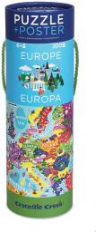 Crocodile Creek Puzzle 200 el. - Mapa Europy (212316)