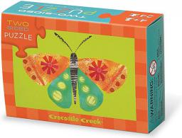 Crocodile Creek Puzzle dwustronne - motyl (212340)