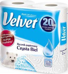 Velvet OP. 2szt. Ręcznik VELVET Czysta Biel - 5901478998804