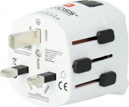 Skross Adapter podróżny PRO Light z USB biały (AKGADSKRLMPROU01)