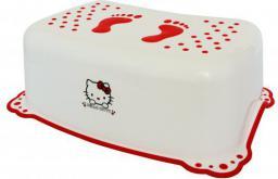 Maltex Podnóżek z gumkami antypoślizgowymi, Hello Kitty, biały (000437)