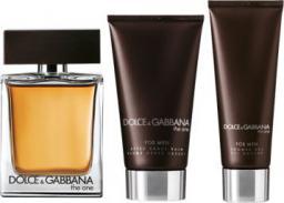 Dolce & Gabbana The One For Men Zestaw dla mężczyzn EDT 100ml + balsam po goleniu 75ml + żel pod prysznic 50ml