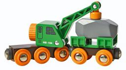 Brio Green Crane Truck, Trailer & Freight (33698)
