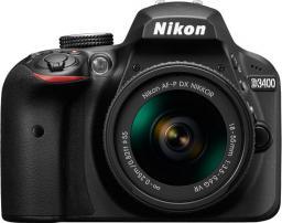Lustrzanka Nikon D3400 + AF-P 18-55VR KIT (VBA490K001)