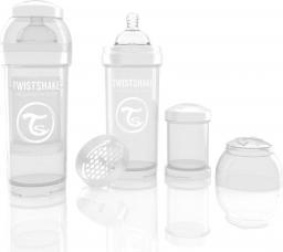 Twistshake Antykolkowa butelka do karmienia, biała 260ml