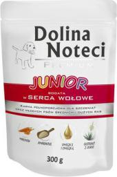 Dolina Noteci Premium Junior bogata w serca wołowe 300 g