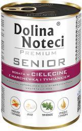 Dolina Noteci Premium Senior z cielęcina marchewką i tymiankiem 400g