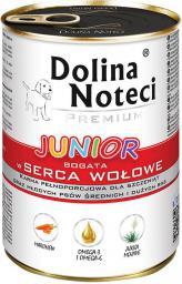 Dolina Noteci Premium Junior z sercami wołowymi 400g